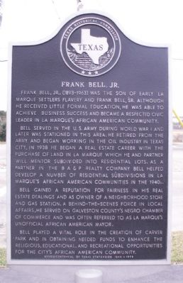 Frank Bell Jr. Marker image. Click for full size.