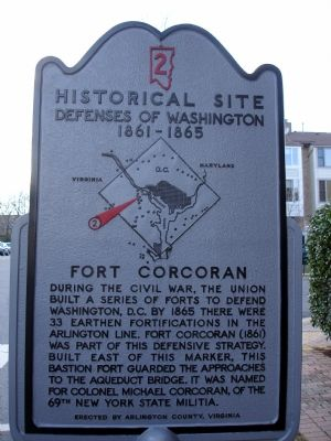 Fort Corcoran Marker image. Click for full size.