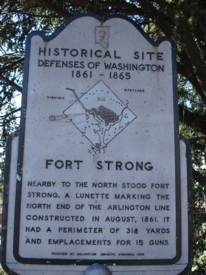 Fort Strong Marker image. Click for full size.