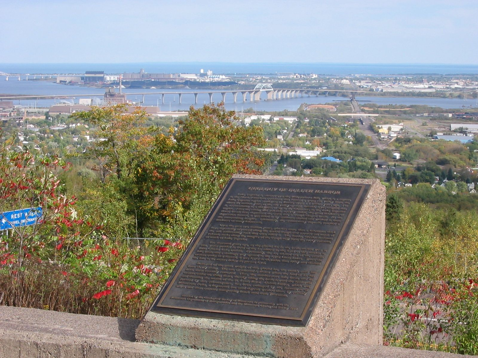 Geology of Duluth Harbor Marker