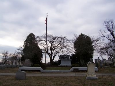 Full view of grave site. image. Click for full size.