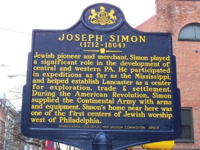 Joseph Simon (1712 - 1804) Marker image. Click for full size.