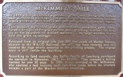 McKimmey's Mill Marker image. Click for full size.
