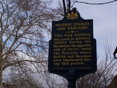 Military Stables and Barracks Marker image. Click for full size.
