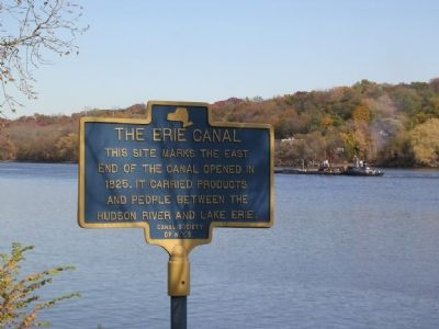 The Erie Canal / Albany Basin Marker image. Click for full size.