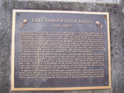 Early Transportation Routes Marker image. Click for full size.