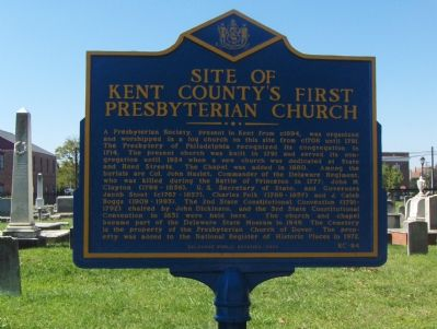 Site of Kent County's First Presbyterian Church Marker image. Click for full size.
