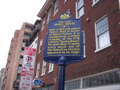Fulton Opera House Marker image. Click for full size.