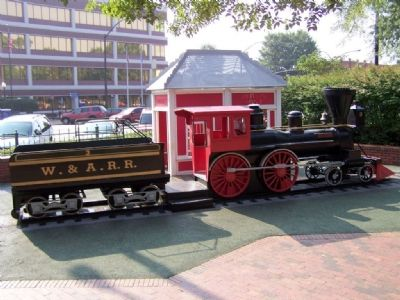 """The General"" model train in Glover Park image. Click for full size."