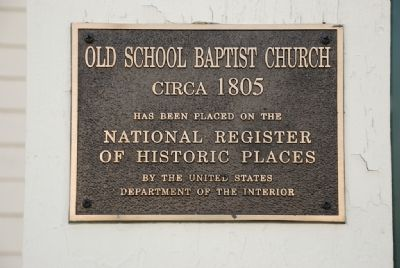 Old School Baptist Church (Circa 1805) image. Click for full size.