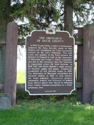 The Orchards of Door County Marker image. Click for full size.