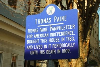 Thomas Paine House, Bordentown, New Jersey image. Click for full size.