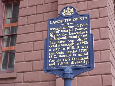Lancaster County Marker image. Click for full size.