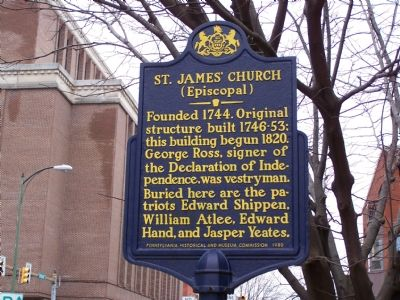 St. James' Church (Episcopal) Marker image. Click for full size.