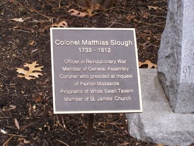 Colonel Matthias Slough Marker image. Click for full size.