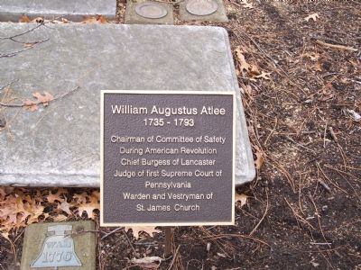 William Augustus Atlee Marker image. Click for full size.