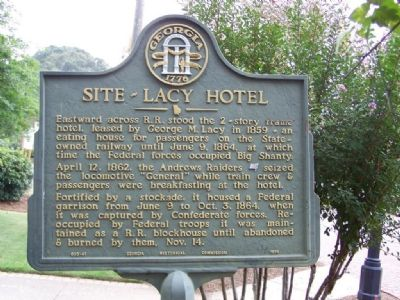 Site-Lacy Hotel Marker image. Click for full size.