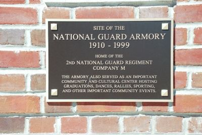 National Guard Armory Marker image. Click for full size.