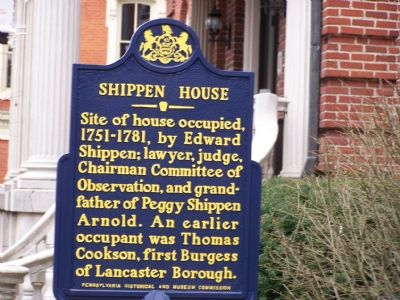 Shippen House Marker image. Click for full size.