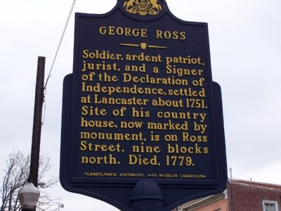 George Ross Marker image. Click for full size.