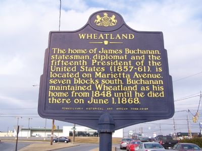 Wheatland Marker image. Click for full size.