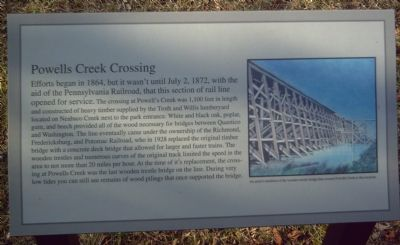 Powells Creek Crossing Marker image. Click for full size.