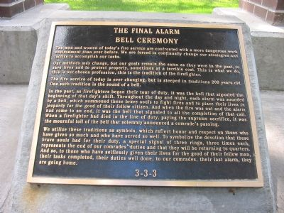The Final Alarm Bell Ceremony image. Click for full size.