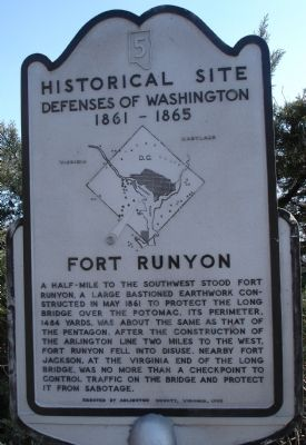 Fort Runyon Marker image. Click for full size.
