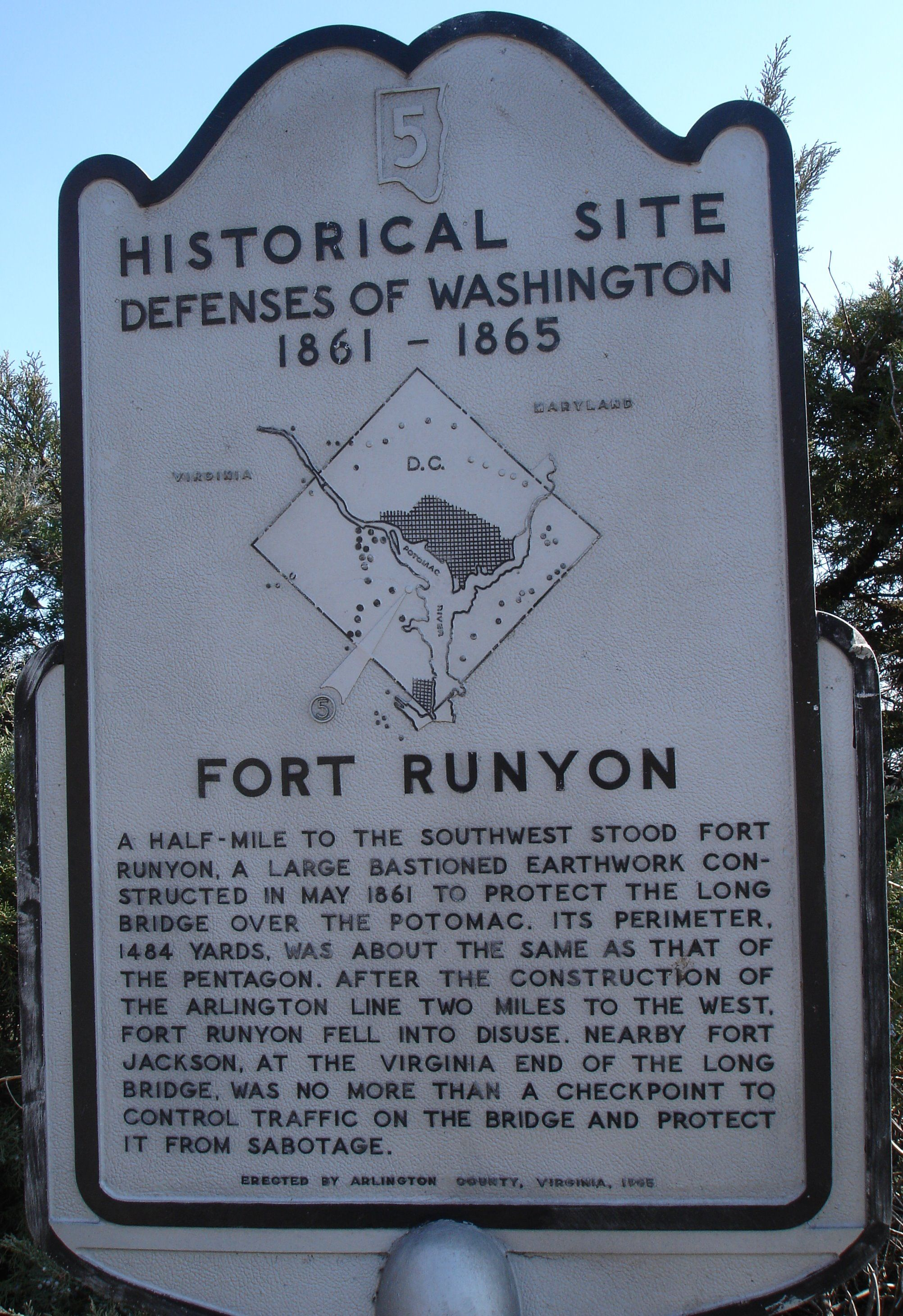 Fort Runyon Marker