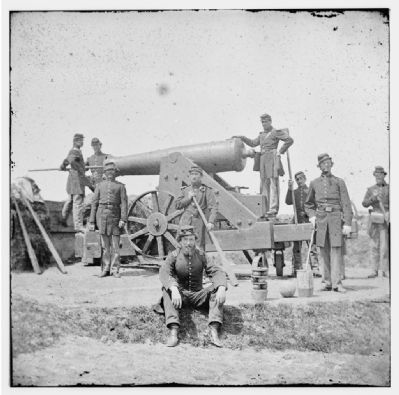 Soldiers at Fort Corcoran image. Click for full size.
