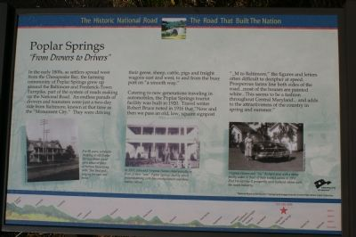 Poplar Springs Marker image. Click for full size.