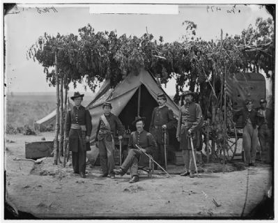 Officers at Fort C. F. Smith image. Click for full size.