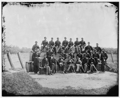 Officers at Fort Craig image. Click for full size.