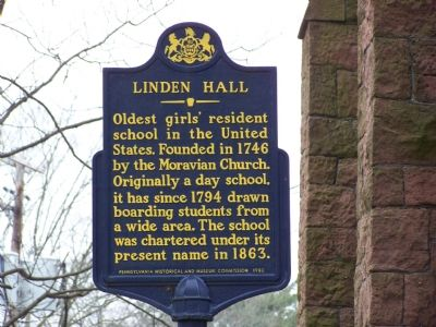 Linden Hall Marker image. Click for full size.