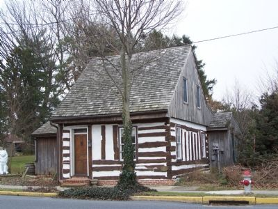 Log house across from marker built in 1765. image. Click for full size.