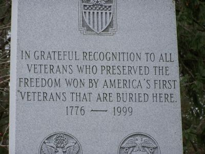 In Grateful recognition to all veterans Marker image. Click for full size.