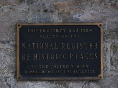 National Register of Historic Places marker on building. image. Click for full size.