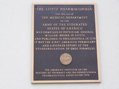 The Lititz Pharmacopoeia Marker image. Click for full size.