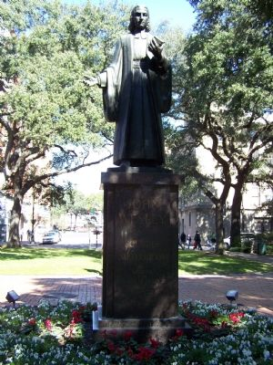 John Wesley Statue...1703-1791 Founder Methodism Minister of the Church of England image. Click for full size.
