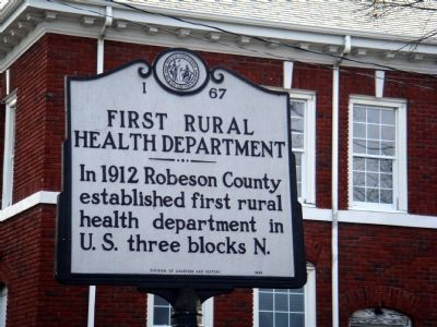 First Rural Health Department Marker image. Click for full size.