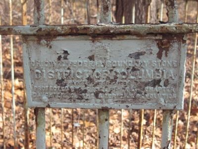 Original Federal Boundary Stone East Marker image. Click for full size.
