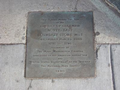 Original Federal Boundary Stone NE 1 Marker image. Click for full size.