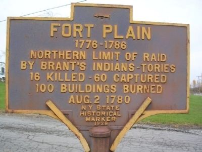 Fort Plain NY State Historical Marker image. Click for full size.