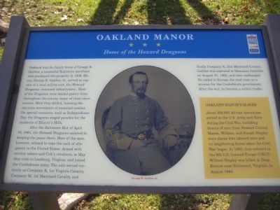 Oakland Manor Marker image. Click for full size.