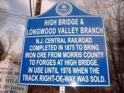 High Bridge and Longwood Valley Branch Marker image. Click for full size.