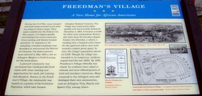 Freedman's Village Civil War Trails Marker image. Click for full size.