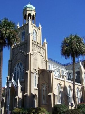 Gothic style synagogue, oldest in the South, 3rd oldest in U.S. image. Click for full size.