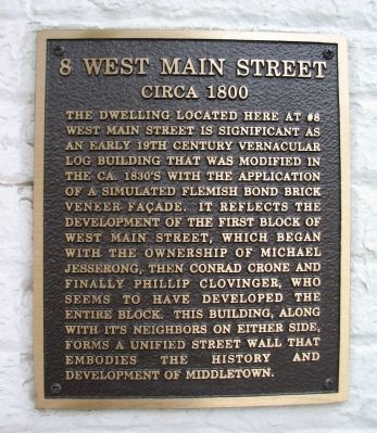 8 West Main Street Marker image. Click for full size.