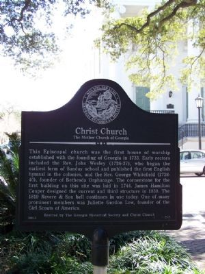 Christ Church, The Mother Church of Georgia Marker image. Click for full size.