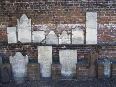 Headstones propped up image. Click for full size.